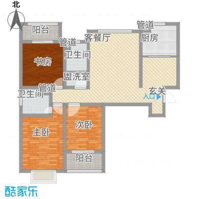 盛景家园142.00㎡户型3室