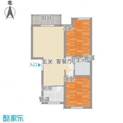 �悦香湾82.00㎡户型2室