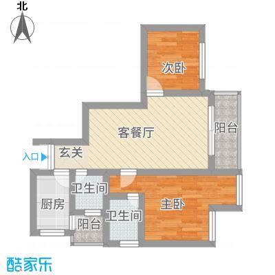 金阳易诚国际58.00㎡户型2室