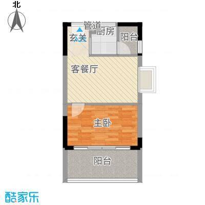 城市一号公寓38.00㎡户型1室