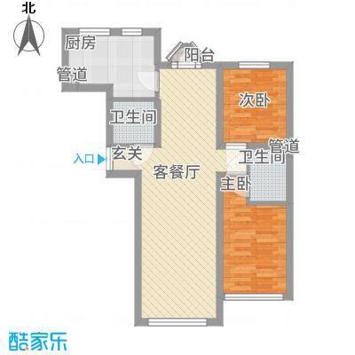 �悦香湾76.00㎡户型2室