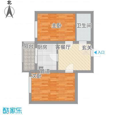 �悦香湾84.00㎡户型2室
