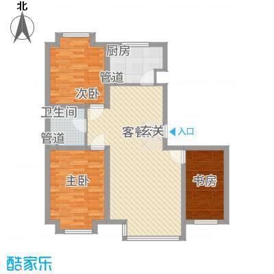 �悦香湾112.00㎡户型1室
