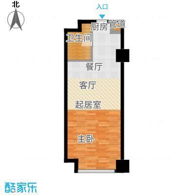西宁万达广场5.00㎡SOHOB户型1室1厅1卫1厨