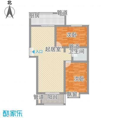 新力景瑞新城113.10㎡B3户型2室2厅1卫1厨