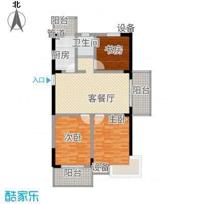 银河湾13.84㎡二期10#楼K户型3室2厅1卫1厨