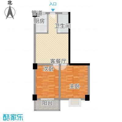 银河湾3.00㎡三期33#楼公寓S3户型2室2厅1卫1厨