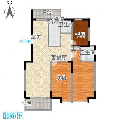 银河湾14.77㎡一期2#楼K户型3室2厅2卫1厨