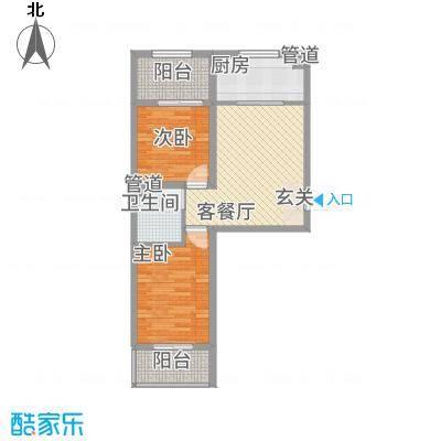 胜景茂园78.82㎡9号12号楼4户型2室2厅1卫1厨