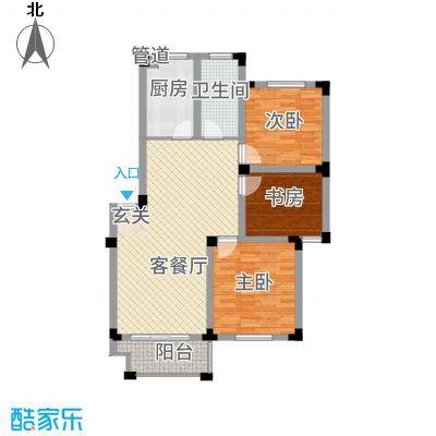 安天国际城多层C户型3室2厅1卫1厨
