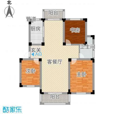 安天国际城116.00㎡多层D户型3室2厅1卫1厨