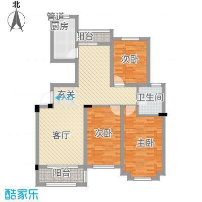 东昌玉龙公馆17.63㎡C1-1户型3室2厅1卫1厨