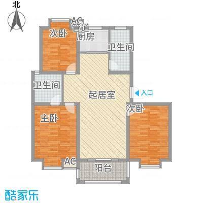 一品和�123.00㎡二期12#楼J户型3室2厅1卫1厨