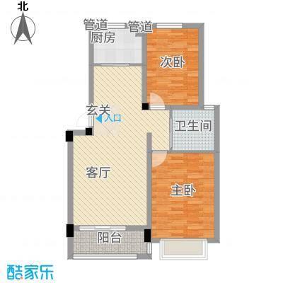 东昌玉龙公馆8.20㎡A1-1户型2室2厅1卫1厨