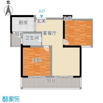 胜利华庭115.00㎡3#楼A-1户型2室2厅1卫1厨