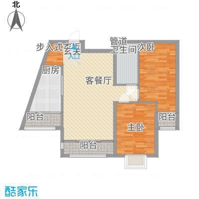 绿海印象3.00㎡一期C2、C5户型2室2厅1卫1厨