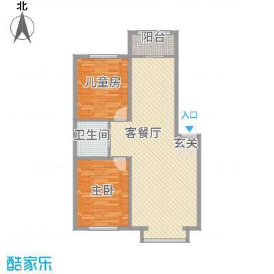 筑石居易f户型2室2厅1卫1厨