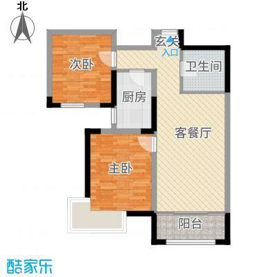 金厦龙第新城11-12号楼标准层E2户型