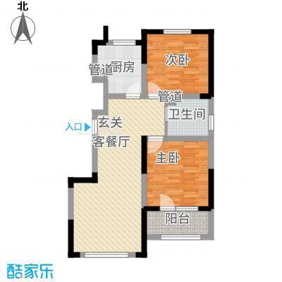 绿地卢浮公馆4期111213号楼标准层J户型