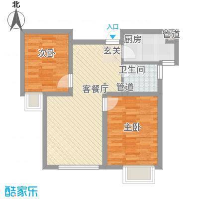 跃丽家园81.74㎡高层标准层A户型2室2厅1卫