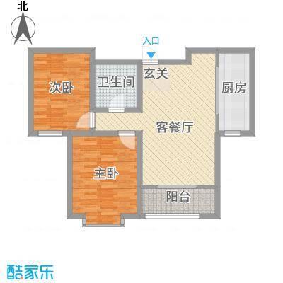 金厦龙第新城2-4号楼标准层C户型