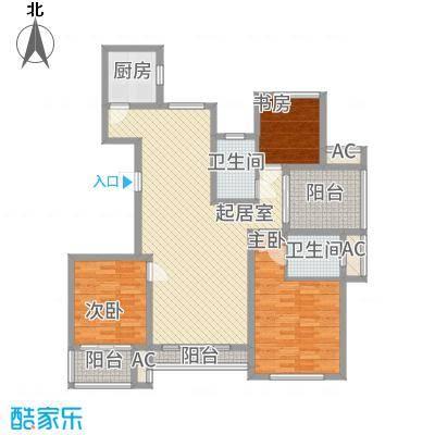爱伦坡145.00㎡高层D户型3室2厅2卫1厨