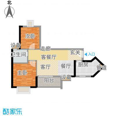 金碧领秀国际72.80㎡D6栋03单位面积7280m户型-副本