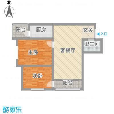 宝宇天邑澜湾二期揭秘(预告)C户型2室2厅1卫1厨
