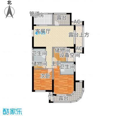 恒佳太阳城126.00㎡15#楼G5户型4室2厅2卫