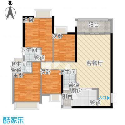 金阳新世界花园143.27㎡珑�五期Q户型4室2厅3卫1厨