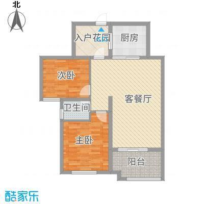 华苑小区5#楼一单元两居户型