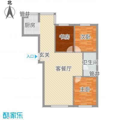 亚泰国际花园16.84㎡4户型3室2厅1卫1厨