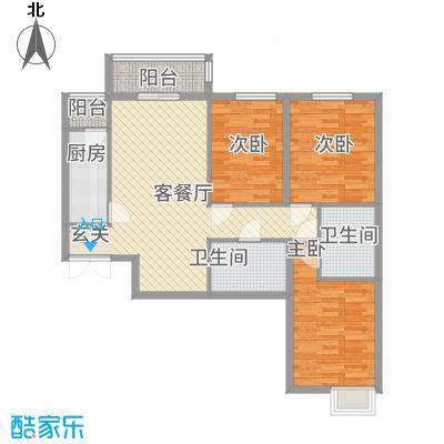 北京御园B23三居户型