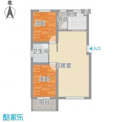 泰安盛世88.00㎡高层标准层K户型2室2厅1卫