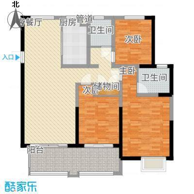 悦达悦珑湾142.00㎡二期16/17号楼C2户型3室2厅2卫1厨