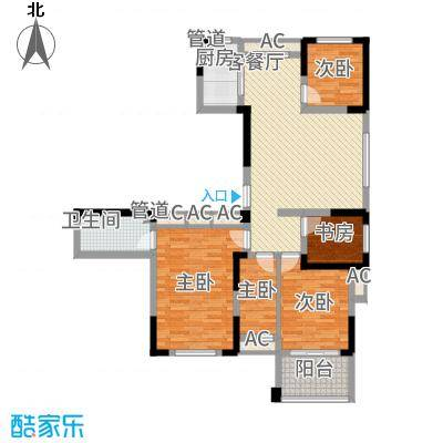 外海蝶泉山庄别墅131.41㎡E18户型4室2厅2卫