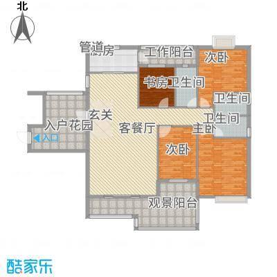 水口雅乐苑184.40㎡M栋A标准层户型