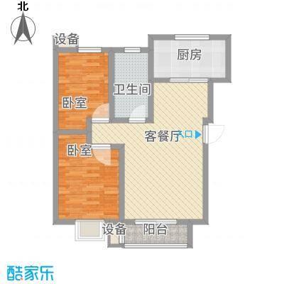 建业阳光花园88.72㎡2号楼C户型2室2厅1卫1厨