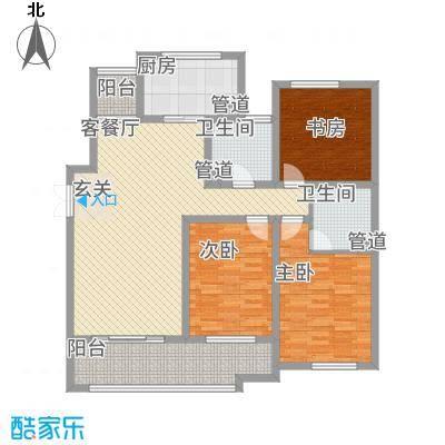 东岸157.00㎡F户型3室2厅2卫1厨