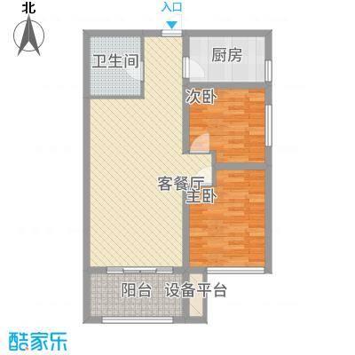 天地源・曲江香都16号楼B-2户型