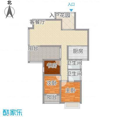 海晟维多利亚137.00㎡5、6号楼户型3室