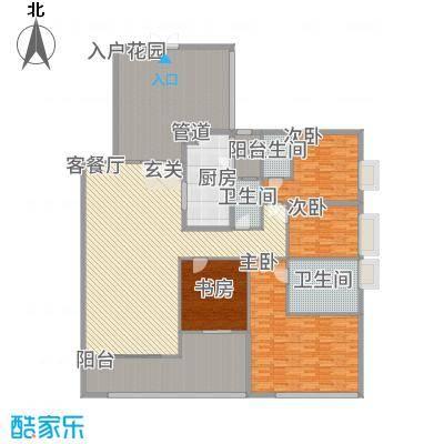 中海万锦豪园148.00㎡户型3室
