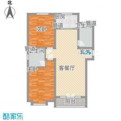 育秀中心24户型2室2厅1卫1厨