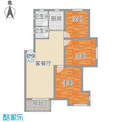 福明家园12.00㎡户型3室