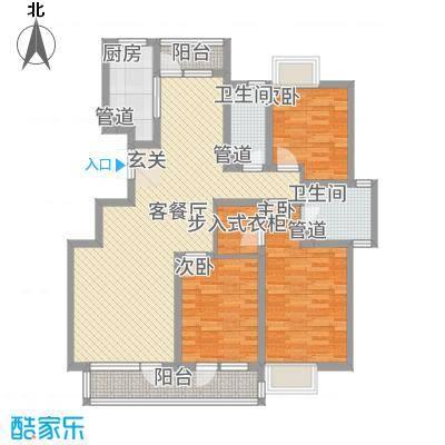 香堤水岸137.00㎡户型3室2厅2卫1厨
