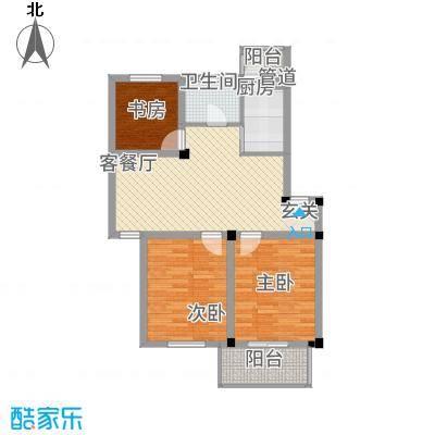 繁裕新村85.00㎡户型3室1厅1卫1厨