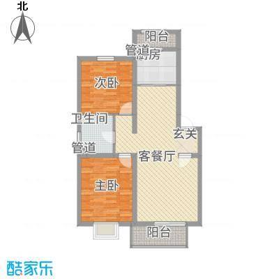 中山雅园户型2室1厅1卫1厨