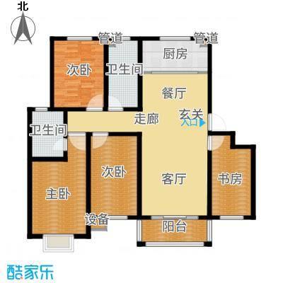 逸景和公馆139.60㎡B1 四室两厅两卫户型4室2厅2卫-副本