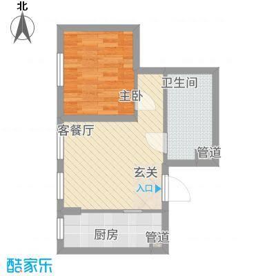 蔚蓝国际5.23㎡1号楼B户型1室1厅1卫1厨
