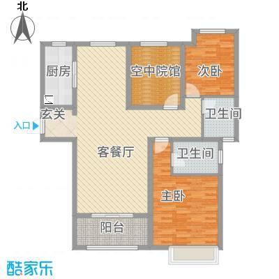 恒茂国际都会7号楼J户型